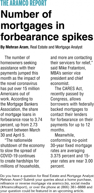 Number of Mortgages In Forbearance Spikes