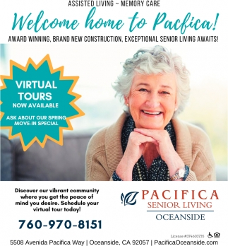 Welcome Home to Pacifica!