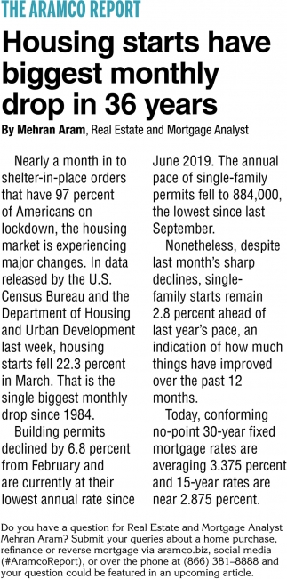 Housing Starts Have Biggest Monthly Drop