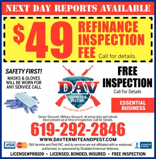 Free Inspection