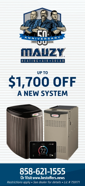 $1,700 OFF a New Installation