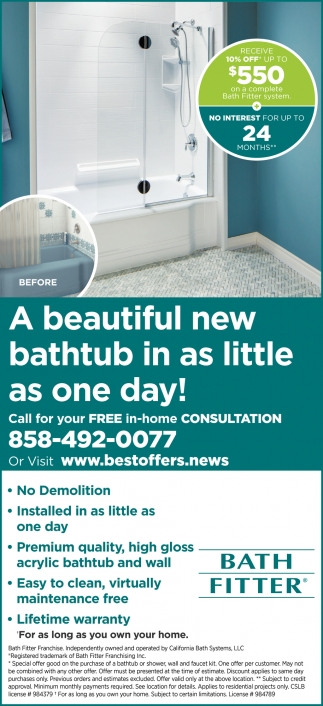 Call For Your Free In-Home Consultation