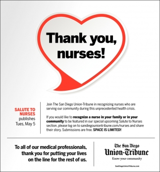 Thank You, Nurses!