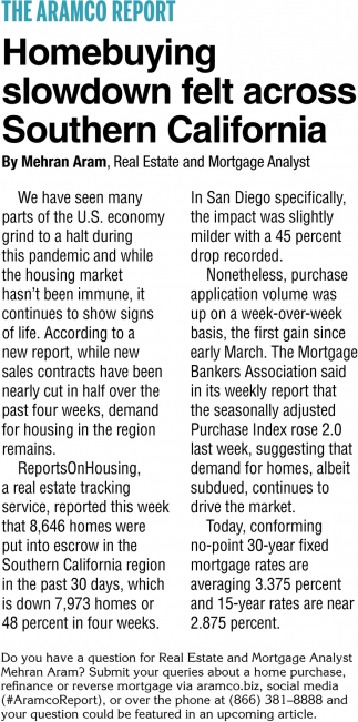 Homebuying Slowdown Felt Across Southern California