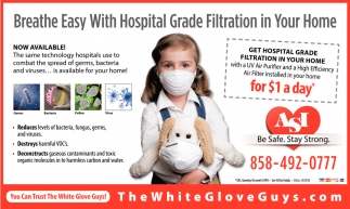 Breathe Easy with Hospital Grade Filtration in Your Home