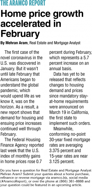 Home Price Growth Accelerated in February
