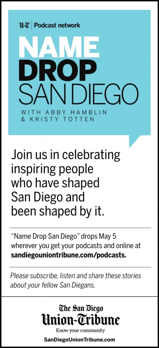Join Us in Celebrating Inspiring People who Have Shaped San Diego and Been Shaped by It