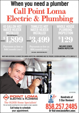 When You Need An Electrician Call Point Loma Electric & Plumbing