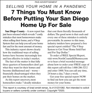 7 Things You Must Know Before Putting Your San Diego Home Up For Sale