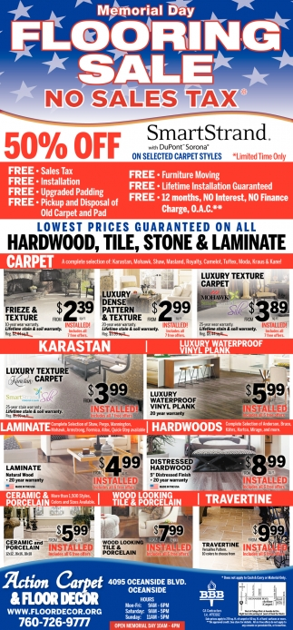 Memorial Day Flooring Sale