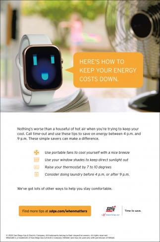 How To Keep Your Energy Costs Down