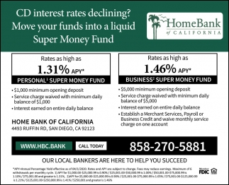 CD Interest Rates Declining?