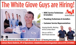 The White Glove Guys Are Hiring!