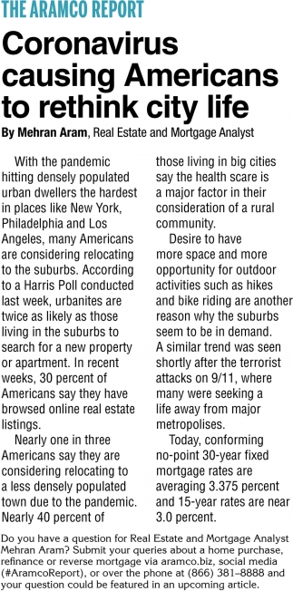 Coronavirus Causing Americans To Rethink City Life