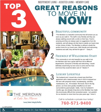 Top 3 Reasons to Move In Now!