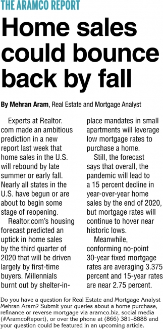 Home Sales Could Bounce Back by Fall