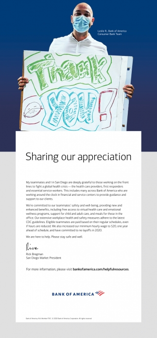 Sharing Our Appreciation