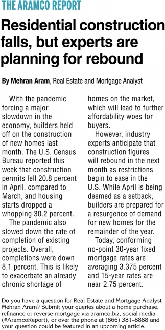 Residential Construction Falls, But Experts Are Planning for Rebound