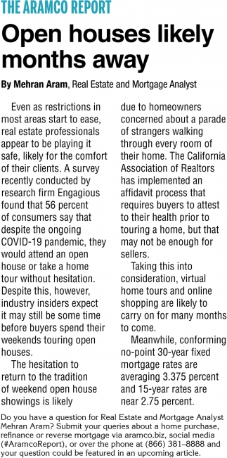 Open Houses Likely Months Away