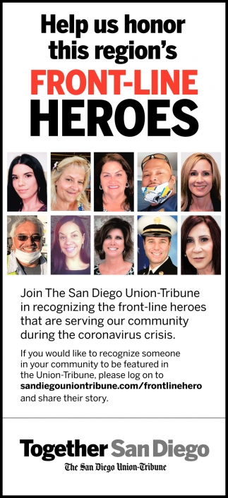 Help Us Honor this Region's Front-Line Heroes