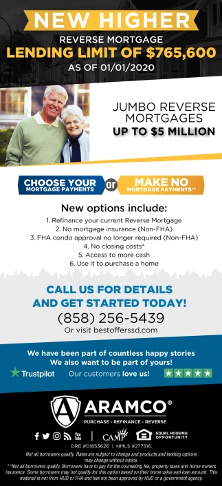 New Higher Reverse Mortgage