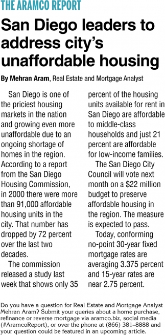 San Diego Leaders to Address City's Unnaffordable Housing