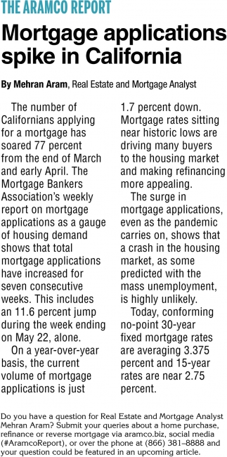 Mortgage Applications Spike In California