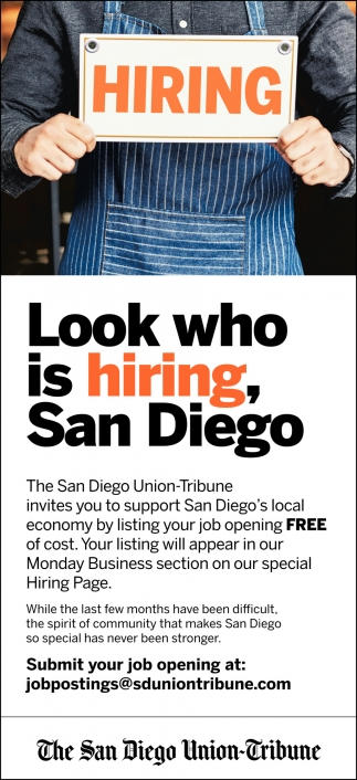 Look Who is Hiring, San Diego