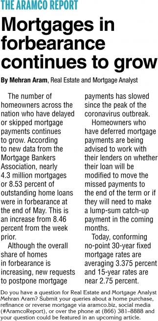 Mortgages In Forbearance Continues to Grow