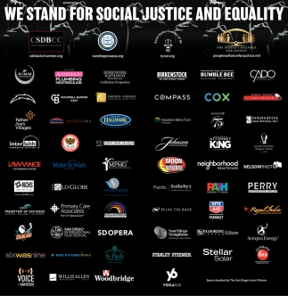 We Stand for Social Justice and Equality