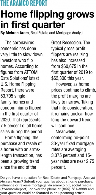 Home Flipping Grows in First Quarter