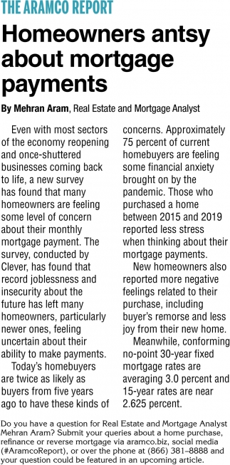 Homeowners Antsy About Mortgage Payments