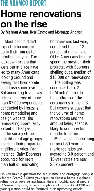 Home Renovations On The Rise