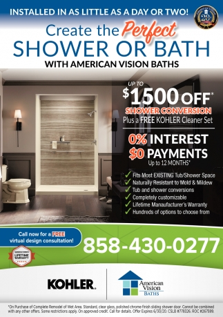 Create the Perfect Shower or Bath