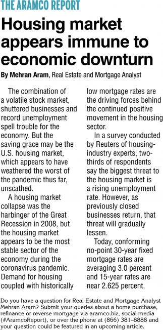 Housing Market Appears Immune to Economic Downturn