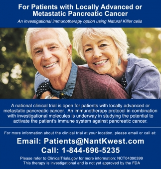 For Patients With Locally Advanced Or Metastatic Pancreatic Cancer