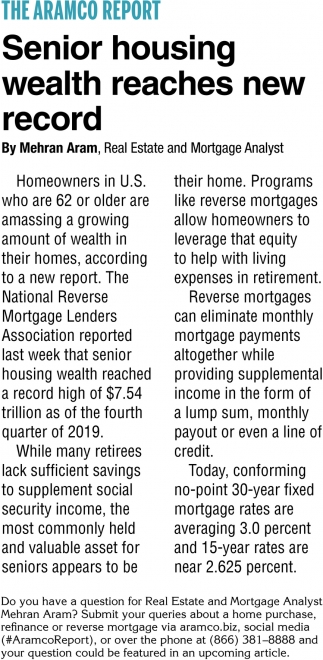 Senior Housing Wealth Reaches New Record