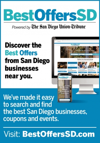 We're Made it Easy to Search and Find the Best San Diego Businesses, Coupons and Events