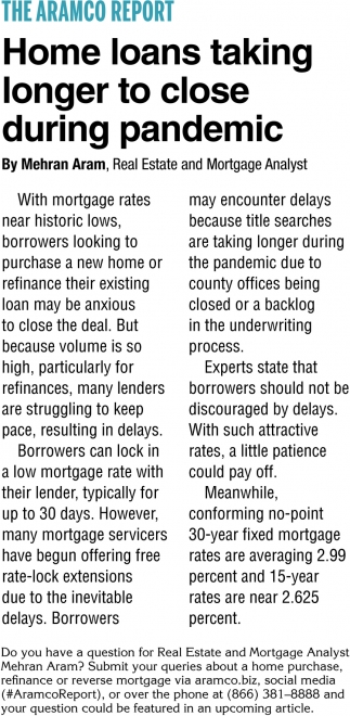 Home Loans Taking Longer To Close During