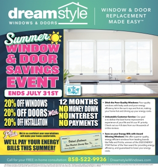 Summer Window & Door Savings Event