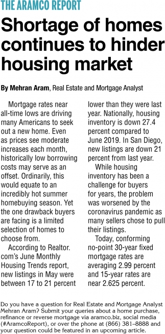 Shortage of Homes Continues to Hinder Housing Market