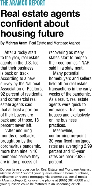 Real Estate Agents Confident About Housing Future
