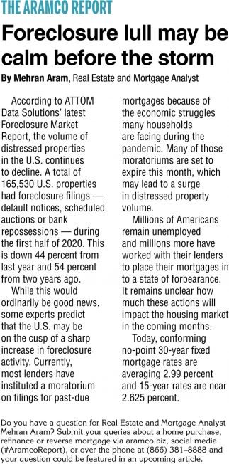 Foreclosure Lull May Be Calm