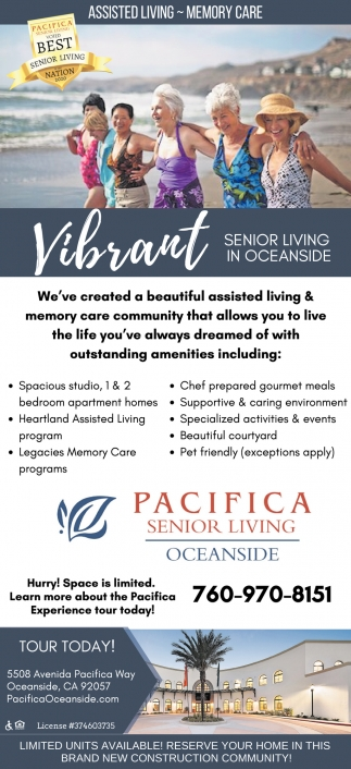 Vibrant Senior Living In Oceanside