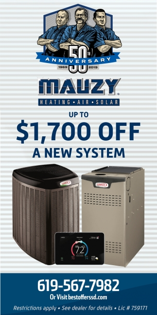 Up to $1,700 OFF A New System