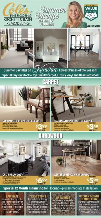 Summer Savings On Fine Flooring