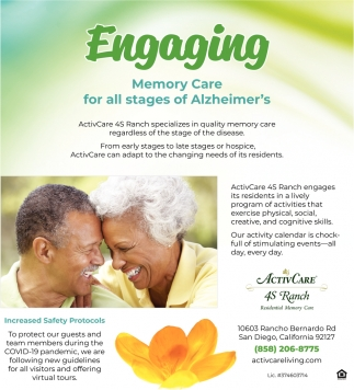 Engaging Memory Care For All Stages Of Alzheimer's