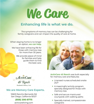 We Are Memory Care Experts