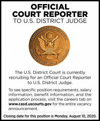 Official Court Reporter