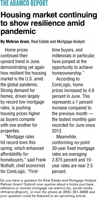 Housing Market Continuing To Show Resilience Amid Pandemic